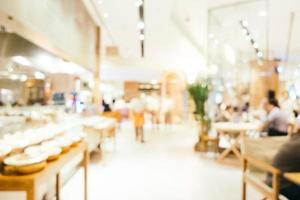 abstracte onscherpte en onscherpe coffeeshop café en restaurant interieur voor achtergrond foto