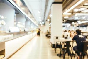 abstracte onscherpte en onscherpe food court centrum van warenhuis foto