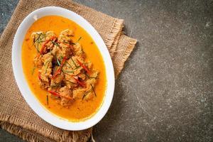 panang curry met varkensvlees foto