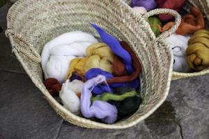 oude wollen schoothoeken foto