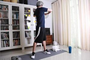 aziatische man training foto