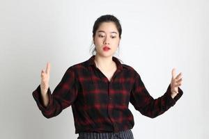 vrouw in studio foto