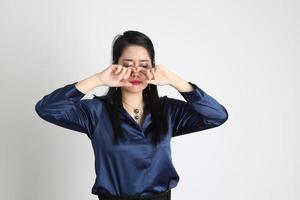 Aziatische vrouw geïsoleerd foto