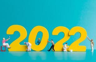 miniatuur mensen werknemer team schilderij nummer 2022 foto