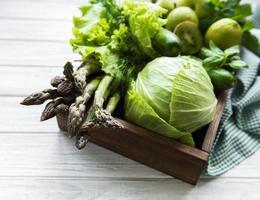 gezond vegetarisch voedselconcept foto