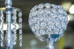 kristallen bol voor decoratie foto