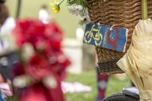een fiets vol details foto