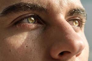 macro-opname van iemands oog foto