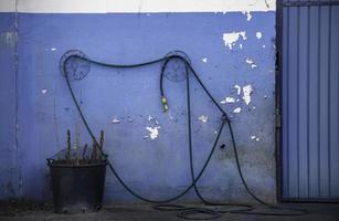 industriële slang in fabriek foto