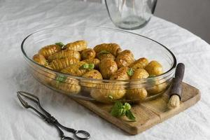 de samenstelling gezonde maaltijd tafel foto