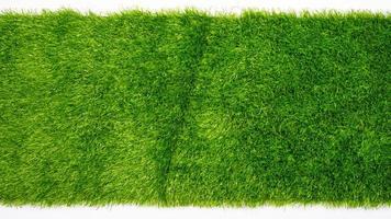 kunstgras kopieerruimte, groen plastic gras gazon achtergrondmodel mock foto