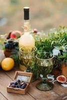 huwelijksglazen voor wijn en champagne foto