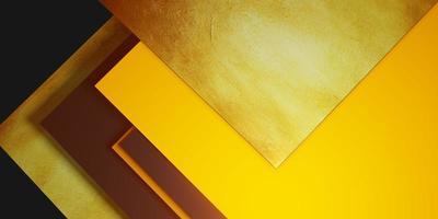 bladgoud textuur achtergrond zwart en geel frame vloer niveau elegante krachtige 3d illustratie foto