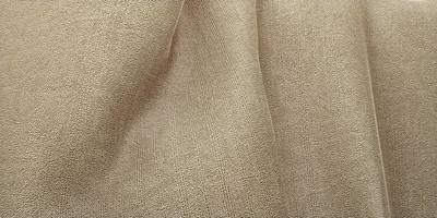 zijde textuur golf gordijn organza stof licht beige 3d illustratie foto