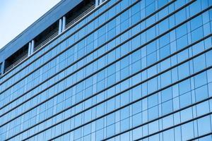 glanzend raam modern van gebouw foto