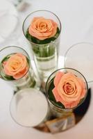 feestzaal voor bruiloften met decoratieve elementen foto