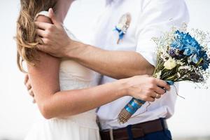 bruiloft bruids boeket foto
