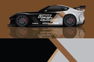 sport auto sticker wrap ontwerp vector foto