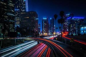 los angeles californië stad centrum bij nacht foto