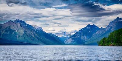 meer mcdonald gletsjer nationaal park foto