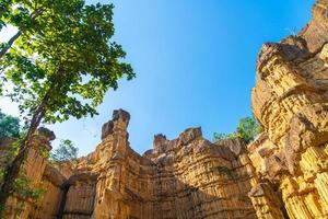 pha chor of de grand canyon chiangmai in mae wang nationaal park, chiang mai, thailand foto