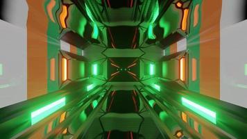 4k uhd 3d illustratie van futuristische tunnel met vlag van Ierlandire foto
