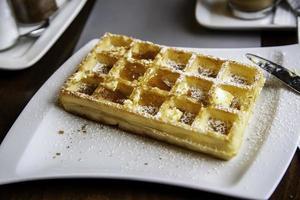 typische zoete wafel uit belgië foto
