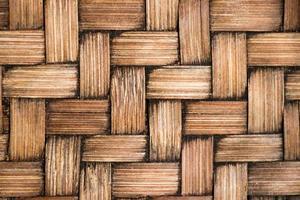 gesloten van bruine kleur houten weeftextuur achtergrond foto