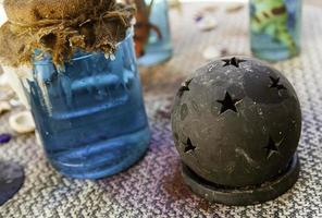voorwerpen van hekserij om magie te maken foto