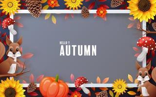 herfstvakantie seizoensgebonden achtergrond met kleurrijke herfstbladeren foto