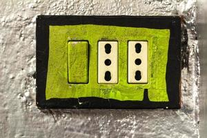 groen stopcontact foto