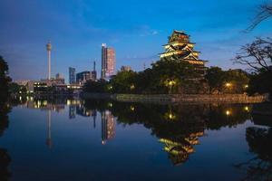 kasteel van hiroshima, ook bekend als karperkasteel, in hiroshima, japan foto