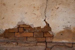 oude grungy bakstenen muur beton textuur achtergrond foto