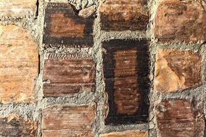de achtergrond is gemaakt van oud metselwerk. textuur foto