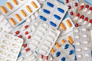 pillen in blisterverpakkingen foto
