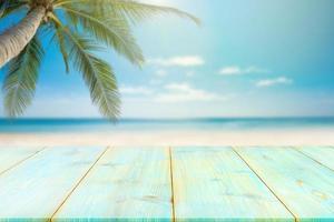 houten vloer of plank van de zee-achtergrond. foto