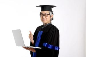 senior Aziatische man foto
