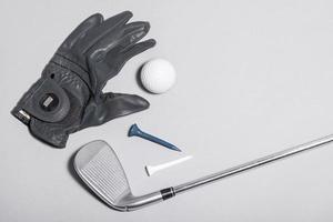 bovenaanzicht handschoen golfuitrusting. mooi fotoconcept van hoge kwaliteit foto