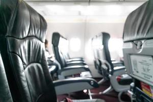 abstract vervagen vliegtuigstoelen voor achtergrond foto