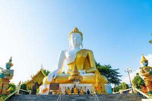 wat phra that doi kham of tempel van de gouden berg foto