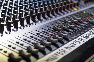 mixerbord in de studio foto