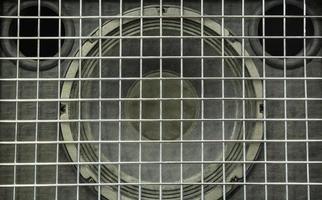 detail van een audiospeaker foto