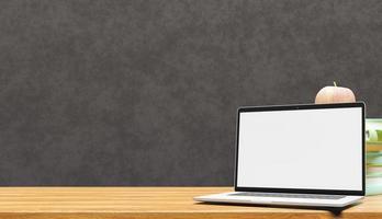 laptop op klaslokaal foto