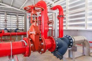 industrieel brandpompstation en brandmeldsysteem; foto