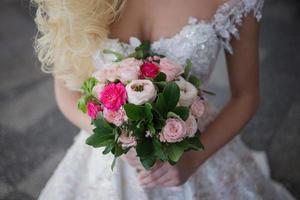 romantische bruiloft set foto