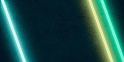 meerkleurig laserlicht schijnt op een zwarte stenen achtergrond foto