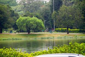ibirapuera park in de stad Sao Paulo, Brazilië foto