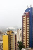 zware regen in het centrum van Sao Paulo, Brazilië foto