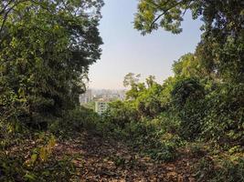 uitzicht vanaf de verloren piek in rio de janeiro, brazilië foto