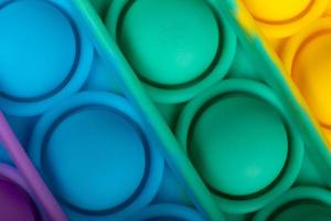 kleurrijke pop it antistress speelgoed macro close-up foto